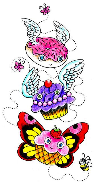 Flying Cupcakes and Dounut by sunnybuick, via Flickr