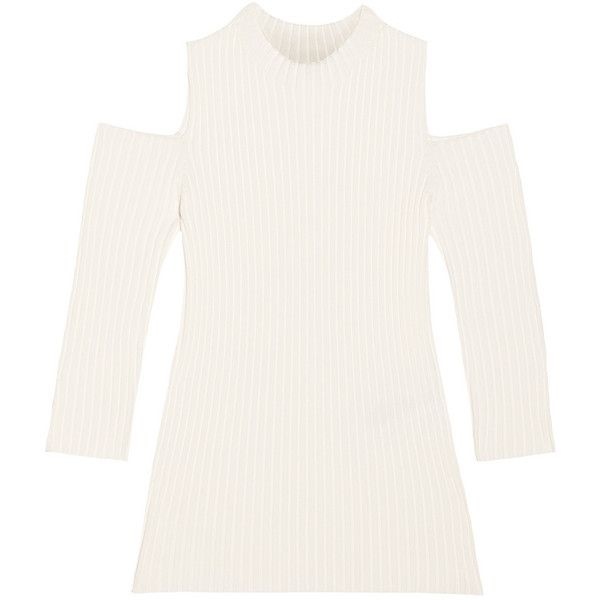8b68438382006c Maje Cutout ribbed-knit top (1424005 PYG) ❤ liked on Polyvore featuring  tops