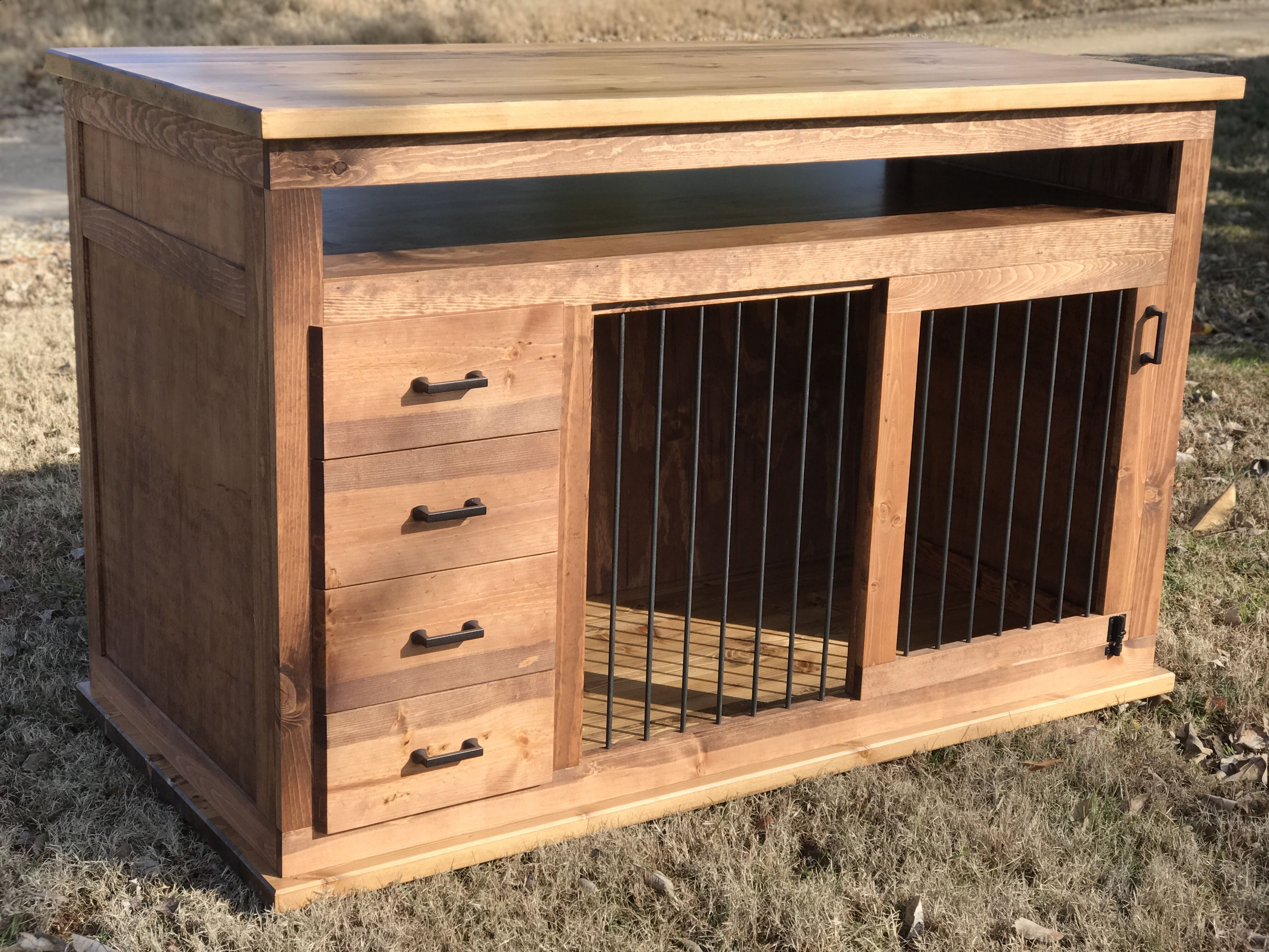 Custom Dog Kennel Furniture Sliding Door Dog Crate Furniture