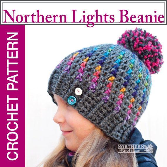 Crochet Hat Pattern Northern Lights Pom Pom Hat Crochet | gorros ...