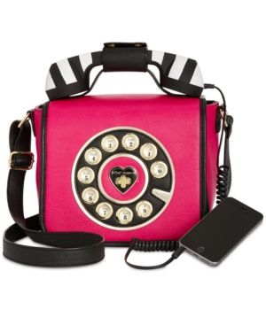 c6ce7ab71700 Betsey Johnson Small Phone Crossbody - Pink   Products   Phone ...