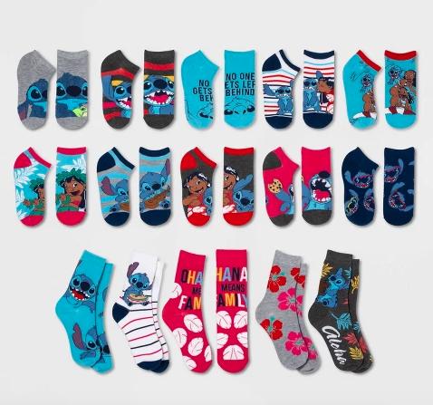 New Disney/'s Lilo /& Stitch Womens 15 Days of Socks Advent Calendar Holiday