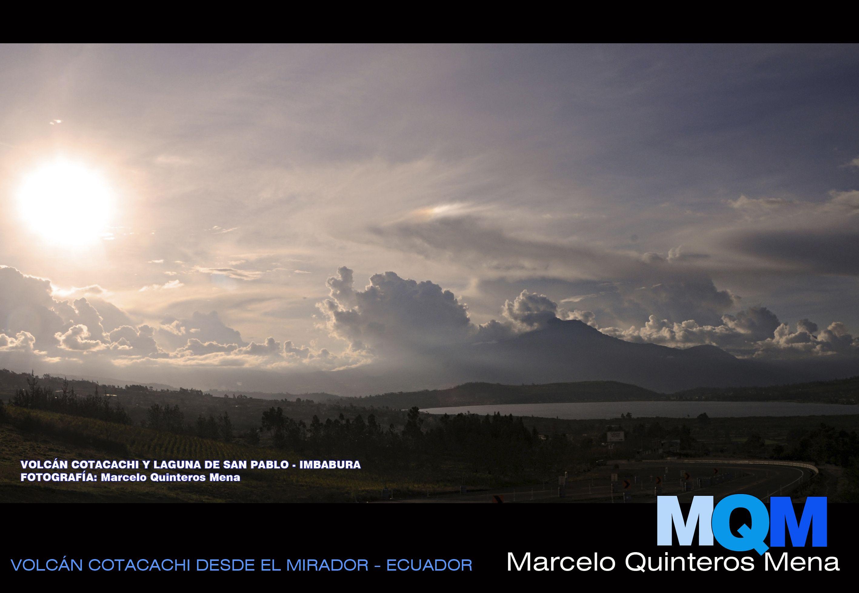 Laguna de San Pablo y volcán Cotacachi