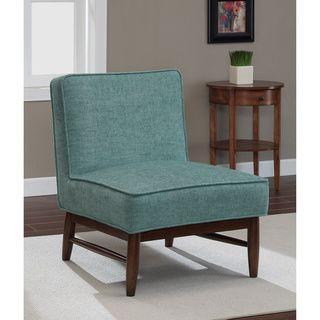 Merveilleux Ella Walnut Aqua Slipper Chair   Overstock™ Shopping   Great Deals On  Living Room Chairs