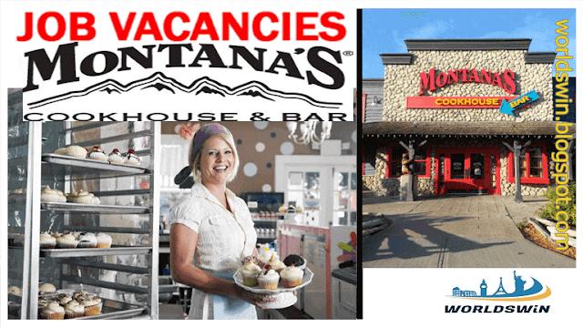 Job openings at Montana's Company Host Hostess Supervisor