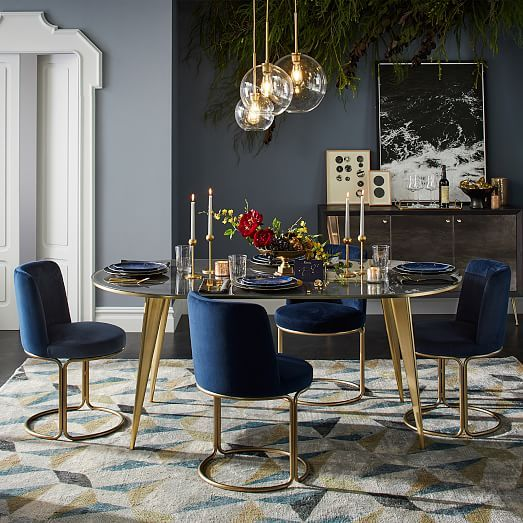 Arden Dining Table Oval Gold Dining Room Dining Room Design Dining Room Contemporary