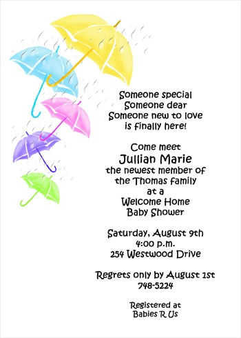 Welcome Home Shower Party Invites