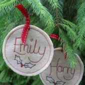 First Christmas Personalised Hanging Star By Abeautifulsign | Swanky Maison