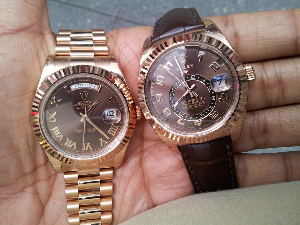 Big Face Presidential & Sky Dweller | Rolex watches, Sky ...