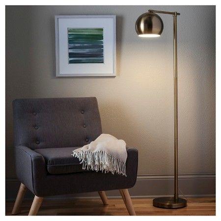Edris Metal Globe Floor Lamp Brass Includes Energy Efficient Light Bulb Project 62 Globe