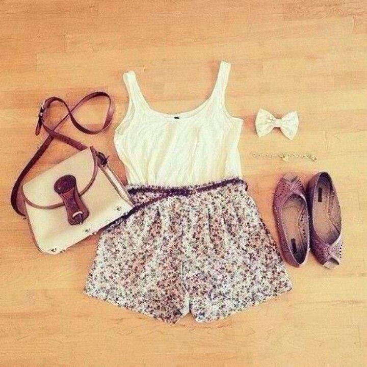 #white #floral #summer #fashion