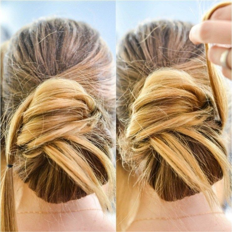 How To Make A Chic Chignon In 6 Easy Steps Chignon Hair Medium Hair Styles Easy Updos For Medium Hair