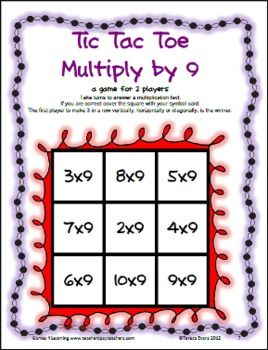 Multiplication Tic Tac Toe FREEBIE from Games 4 Learning combines the fun of Tic Tac Toe and with practice of basic multiplication facts.It includes 3 Tic Tac Toe games boards! Enjoy!