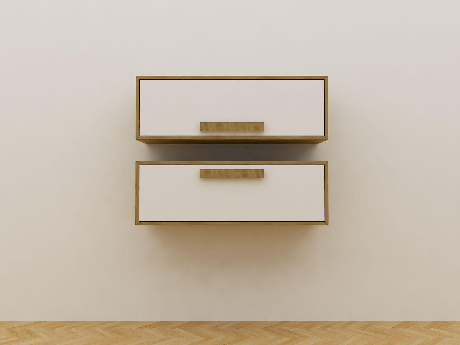 Minimalist Modern Furniture  Lemari Gantung Kayu Minimalis  White