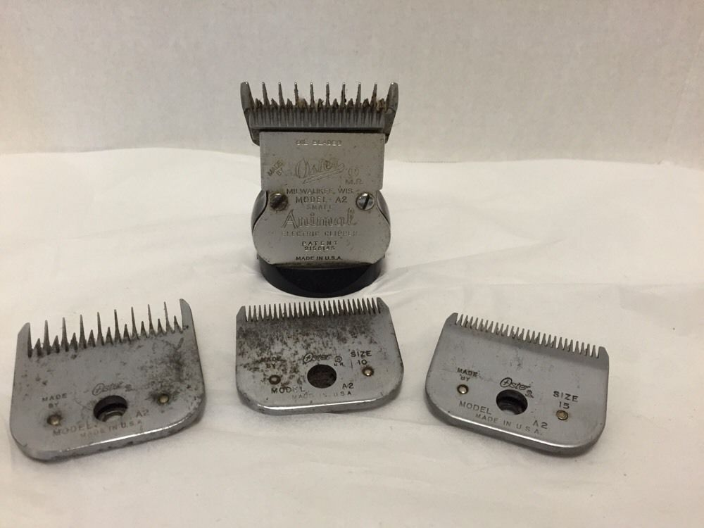 Oster A2 Small Animal Clippers Electric Vintage Head 4 Blades Sizes 5 7 10 15 Small Pets 10 Things Oster