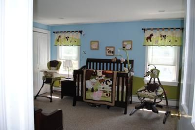 Barnyard Baby Bedding Crib And Window Valances Our Nursery Decor Was Inspired By The Nojo Farm Babies Set