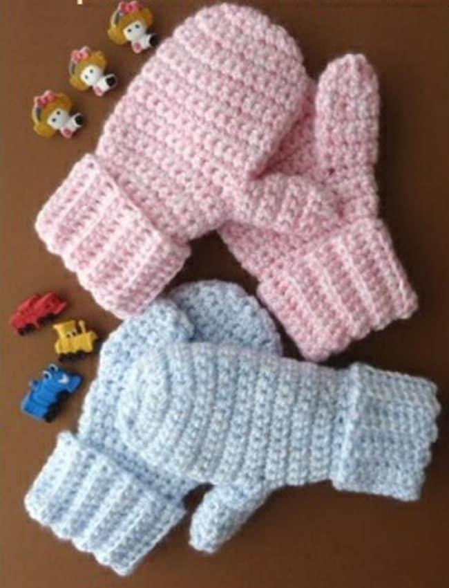 Wonderful DIY Crochet Kids Mitten with Free Pattern | Free pattern ...