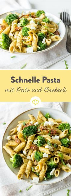 In 20 Minuten fertig: Zitronen-Pesto-Pasta