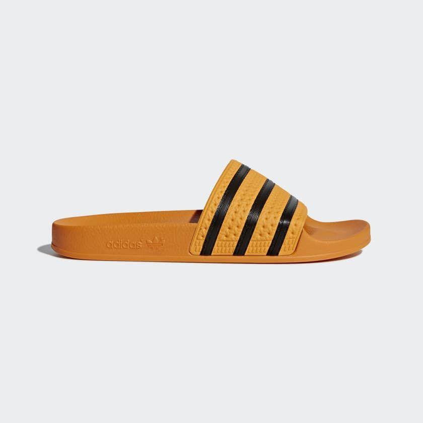 best service 1c534 d52dd Adilette Slides Yellow CQ3099. Adilette Slides Yellow CQ3099 Yellow Adidas  ...