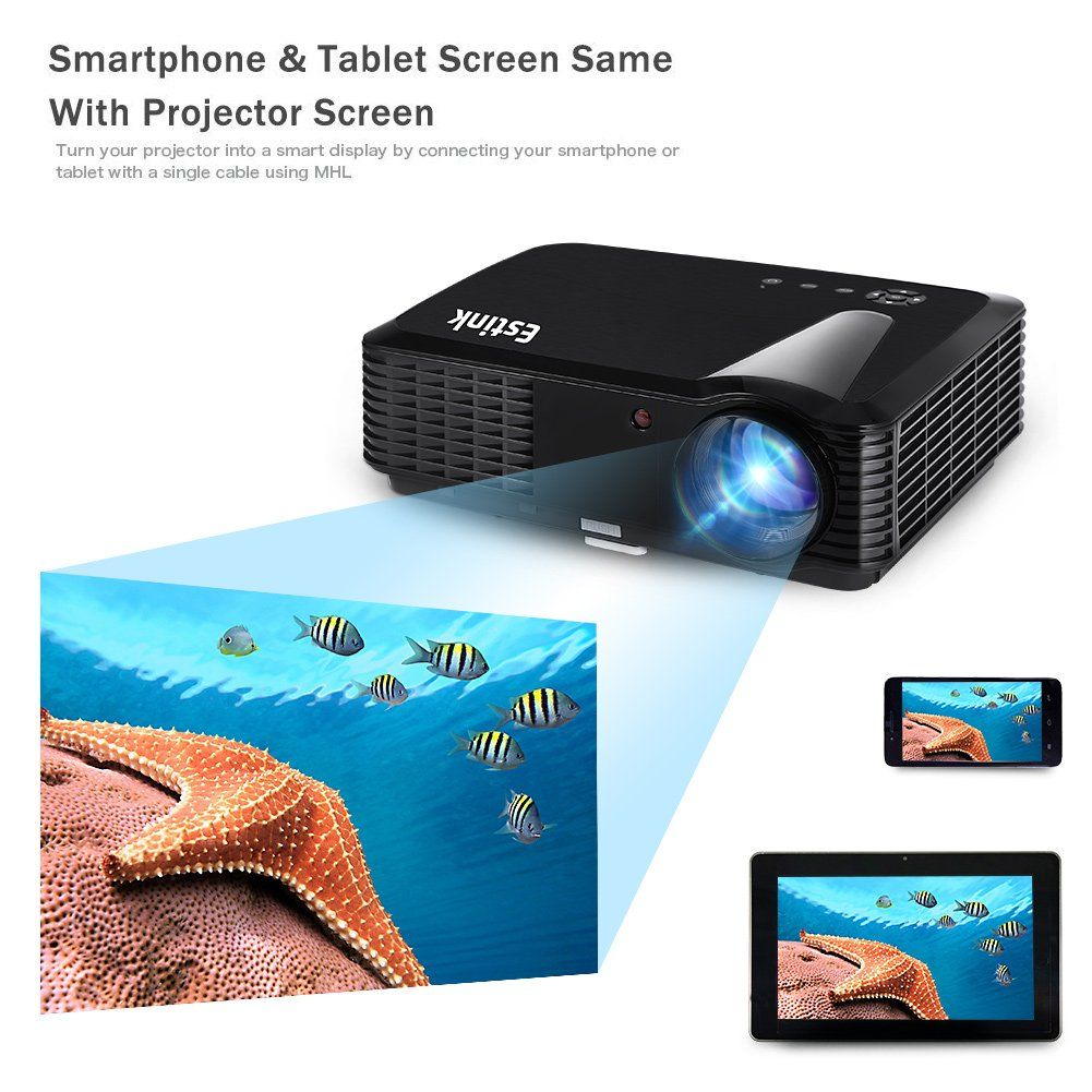 Fosa Projector Portable Video Projector Full HD Home Theater Cinema ...