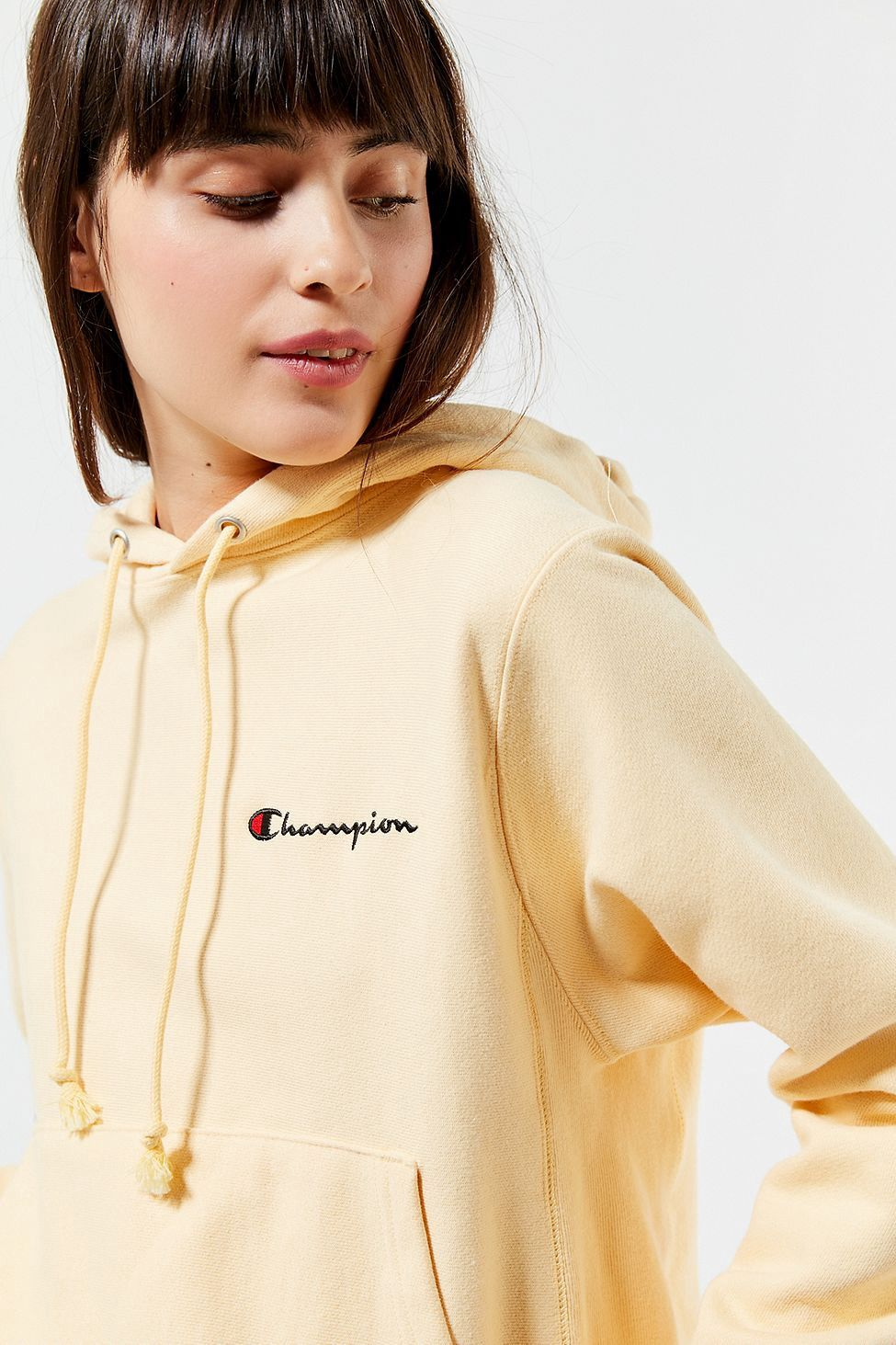 Urban Outfitters Champion & Uo Arm Logo Hoodie Sweatshirt