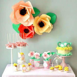 flores de cartulina para decorar fiestas infantiles inspiracin e ideas para fiestas de cumpleaos