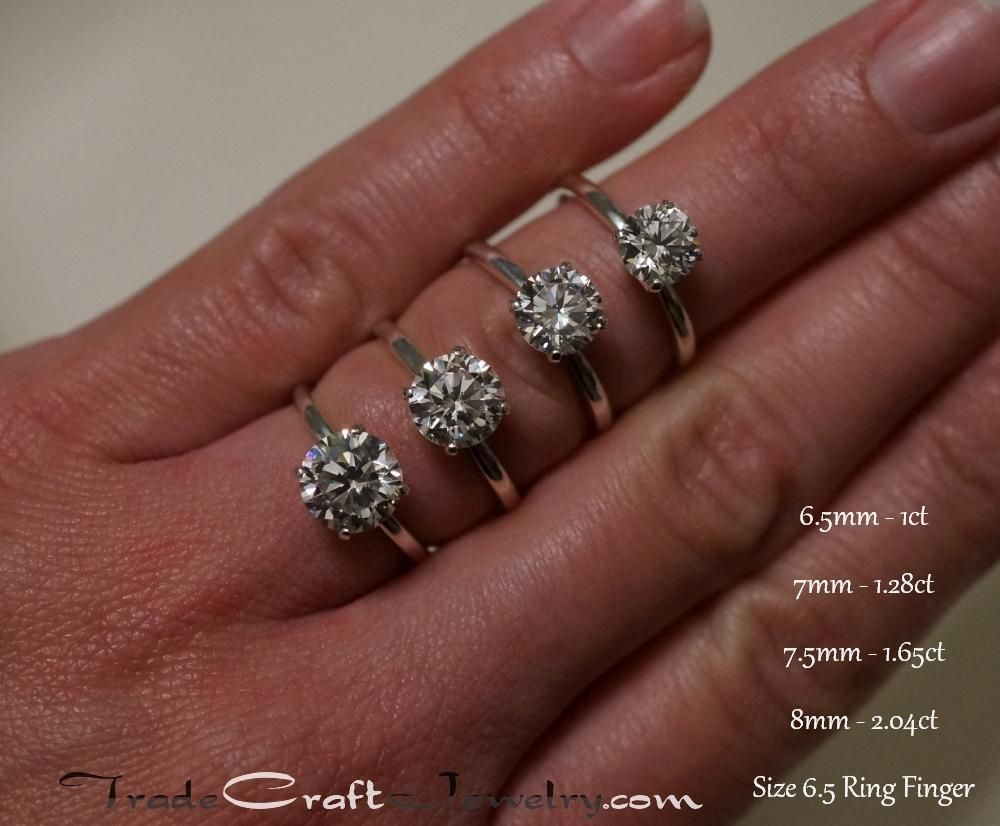 Available in Sizes 6 to 10 size 7 Sterling Silver 1 Carat size Brilliant Cut Cubic Zirconia Solitaire Bridal Ring