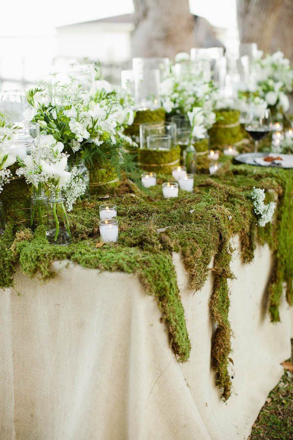 10 Ways To Decorate With Green Moss: Enchanted Forest Wedding, Enchanted Forest