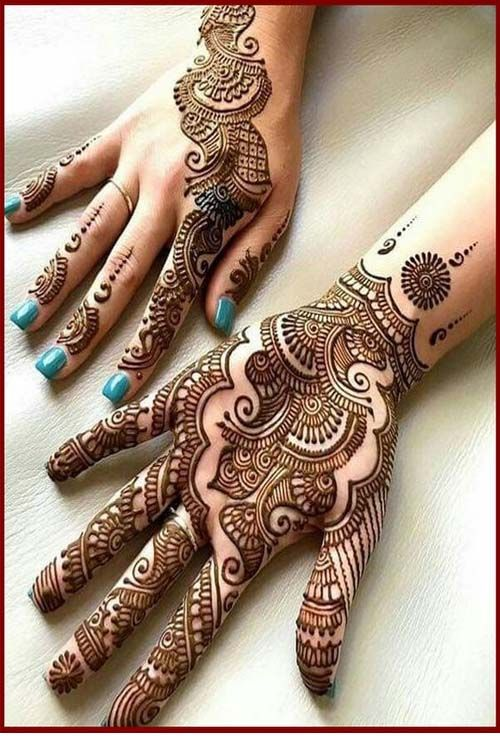 Latest Mehandi Designs 2019 Front Hand