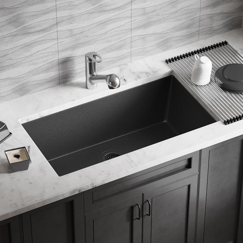 Mr Direct Undermount Granite Composite 32 5 8 In Single Bowl