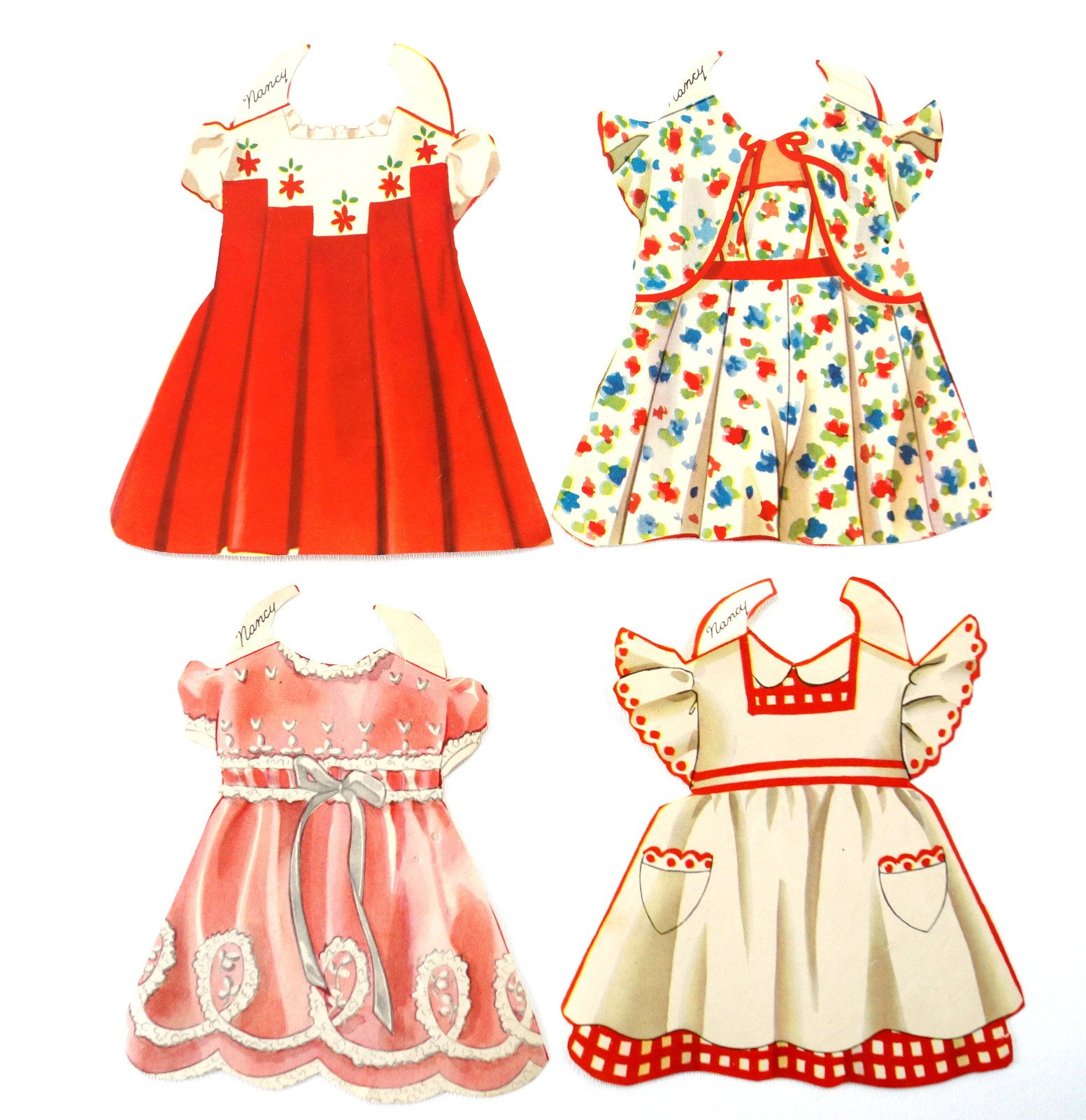 Vintage Paper Doll Toddler Nancy With Clothing 25 Pieces C 1940s Vintage Paper Doll Paper Dolls Arts And Crafts