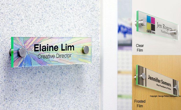 Workshop Series 8 X 2 Door Sign W Acrylic Plates Standoffs Film Sheets Office Door Name Plates Door Name Plates Door Signs