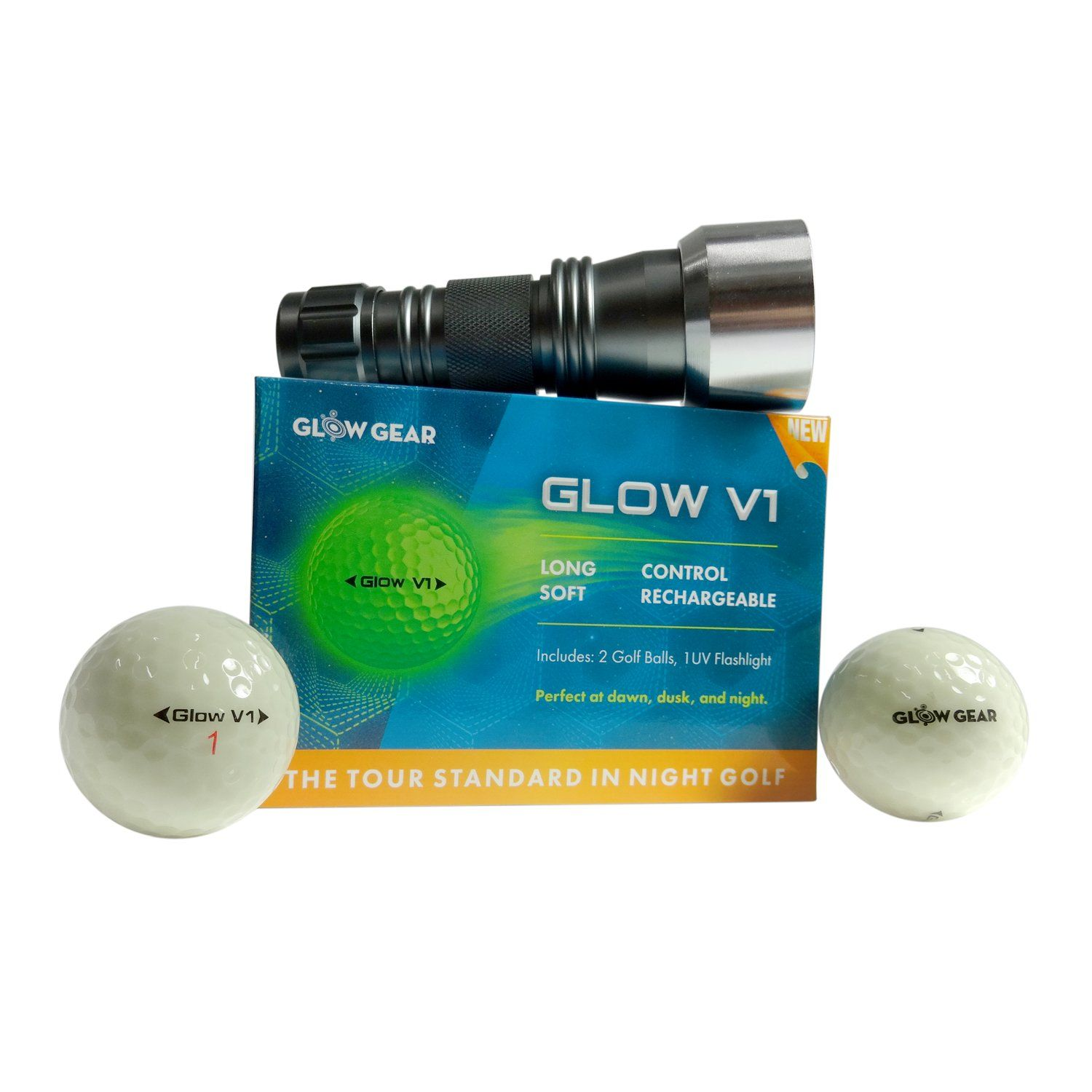 Golf Clubs Glowv2 Night Golf Balls 2pack Best Hitting Ultra Bright Glow Golf Ball Compression Core And Ureth Golf Ball Glow Gear Online Workouts
