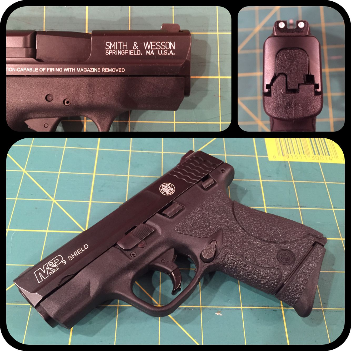 aluminum color fill on smith wesson m p shield 9mm also has a pearce grip extension and. Black Bedroom Furniture Sets. Home Design Ideas