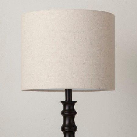 Threshold Shiloh Polyresin Fl Dark Bronze Black Floor Lamp Black Lamps Lamp