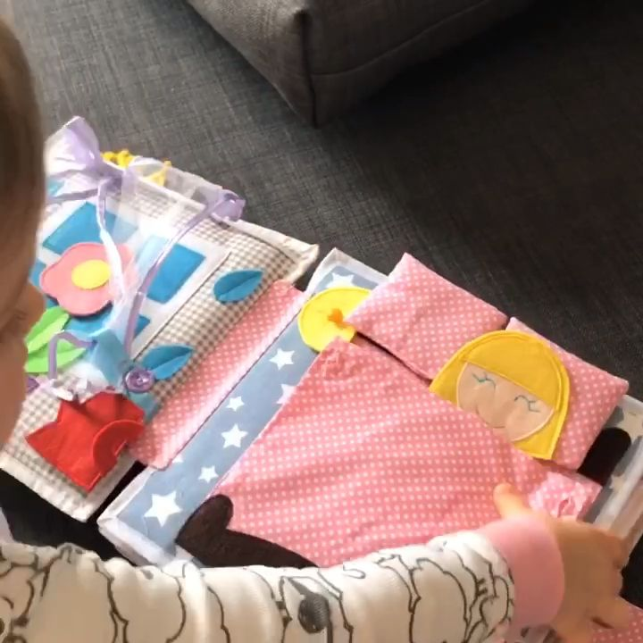 Handmade Quiet Book for girls My Dolly
