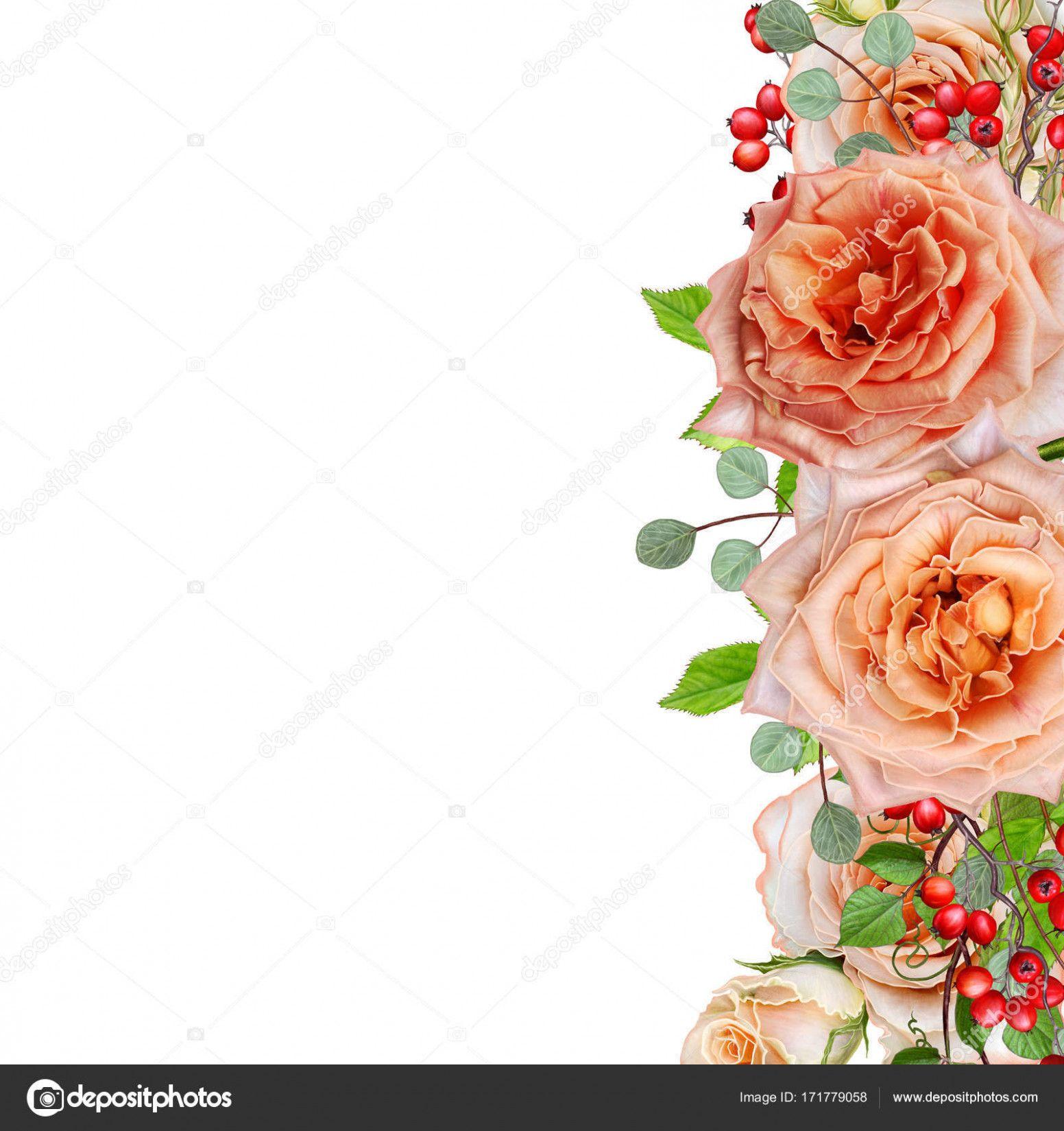Visiting Card Flower Background Visiting Cards Flower