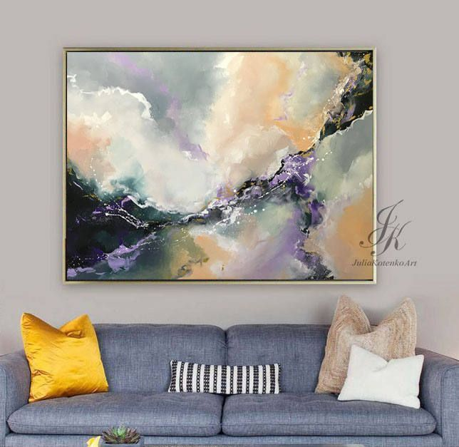Original Large Abstract Oil Painting Large Wall Art Gold Painting Modern Art Original Painting Abstract Painting On Canvas by Julia Kotenko by JuliaKotenkoArt on Etsy #OilPaintingAbstract #artpainting