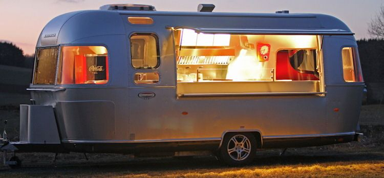 The Airstream Diner One. The first official Airstream catering trailer in Europe