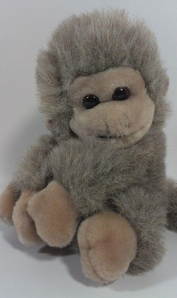 Bj Toy Brown Ape Furry Gorilla Stuffed Animal Monkey Plush Long Tail