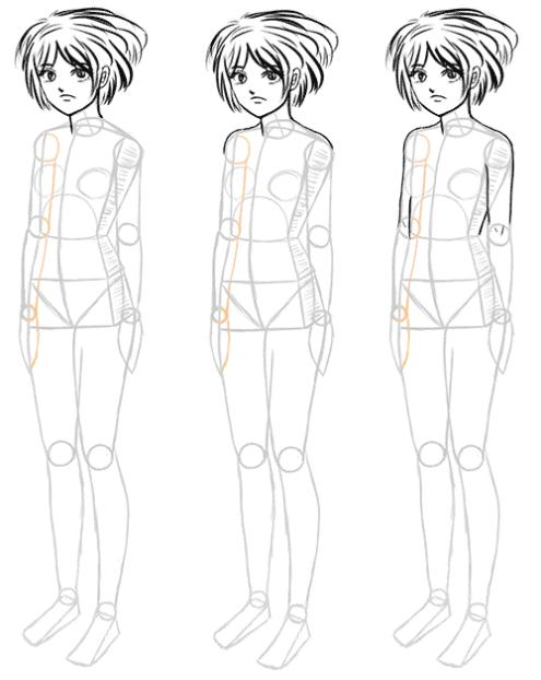 How To Draw Manga Bodies In Three Quarter 3 4 View Manga Tuts Manga Drawing Manga Drawings