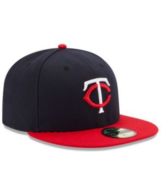 the latest 9a392 80492 New Era Minnesota Twins Authentic Collection 59FIFTY Cap - Navy Red 7 3 8