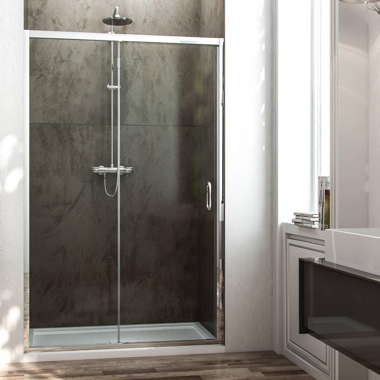 Porta doccia anta fissa porta scorrevole H185 cristallo 6
