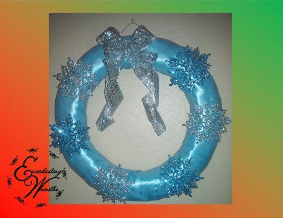 Snowflake Wreath by EverlastingWreaths1 on Etsy, $40.00