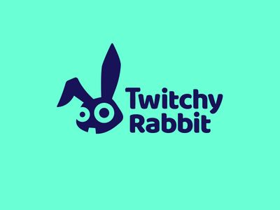 Twitchy Rabbit Logo Logo Inspiration Pinterest Rabbit Logos