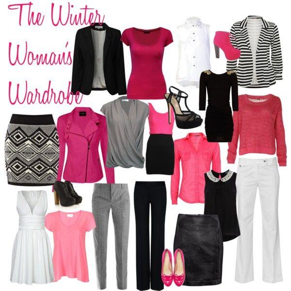 Resultado de imagen de colorful capsule wardrobe pinks and greys for winter