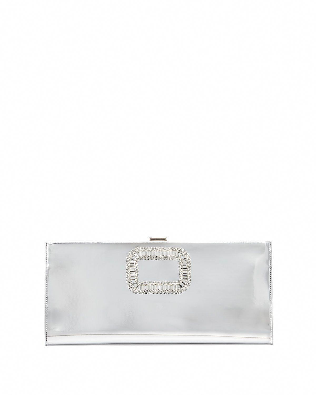 Pilgrim Small Mirror Calfskin Clutch Bag, Silver - Roger Vivier  RogerVivier 66c0418389