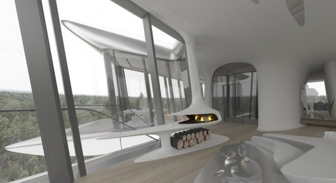 terrific modern house window. Naomi Campbell s New House Displays Modern Technologies  Terrific With Contemporary White Fireplace Wooden