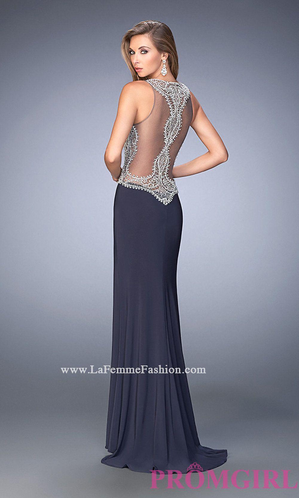 Sheer Back Long High Neck Prom Dress by Gigi Style: LF-22658 ...
