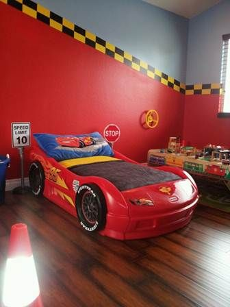 toddler car room ideas | Adam\'s room, cars and trucks - perfect ...